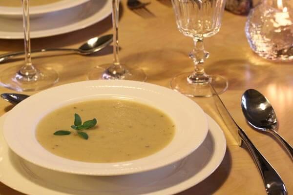 Parsnip and parmigiano soup