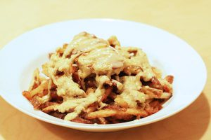 Foie gras poutine, an 'Au Pied de Cochon' classic made at home