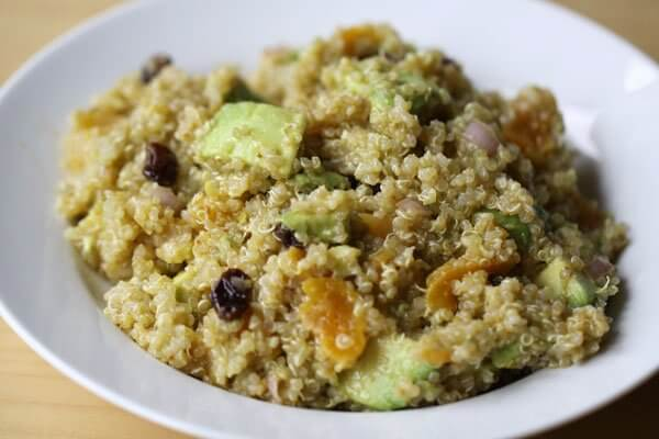 Quinoa and avocado salad with lemon-cumin vinaigrette