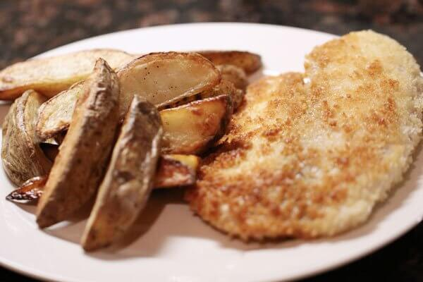 Tilapia and potatoes cooked in duck fat