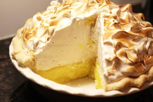 Lemon meringue pie. Heavy on the Italian meringue.