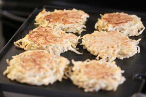 Parsnip and potato pancakes