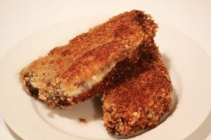 Fried breaded meatloaf