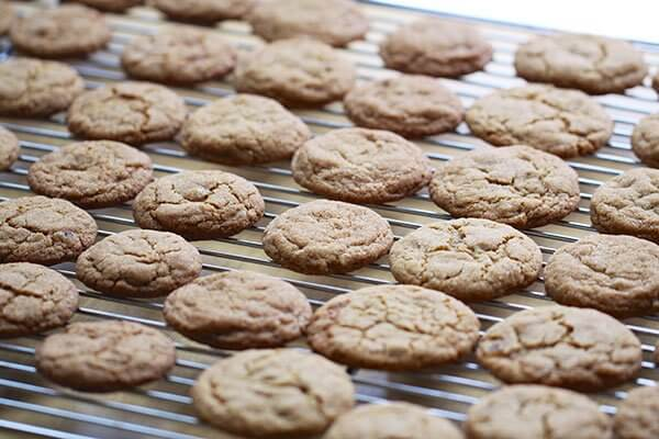 Double ginger crackle cookies