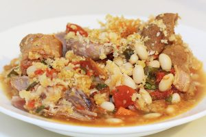 Cassoulet with duck confit, braised pork and sausage