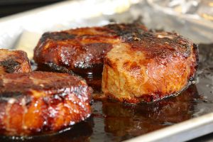 Chinese barbecued roast pork for pork buns