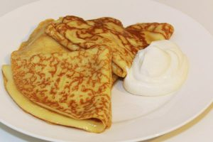 Crêpe Suzette with Grand Marnier whipped cream