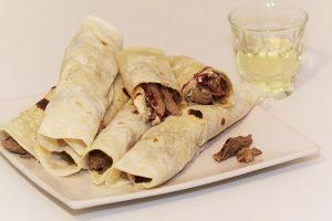 Braised lamb shawarma