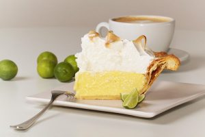Key lime pie with meringue