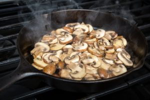 Sautéing mushrooms