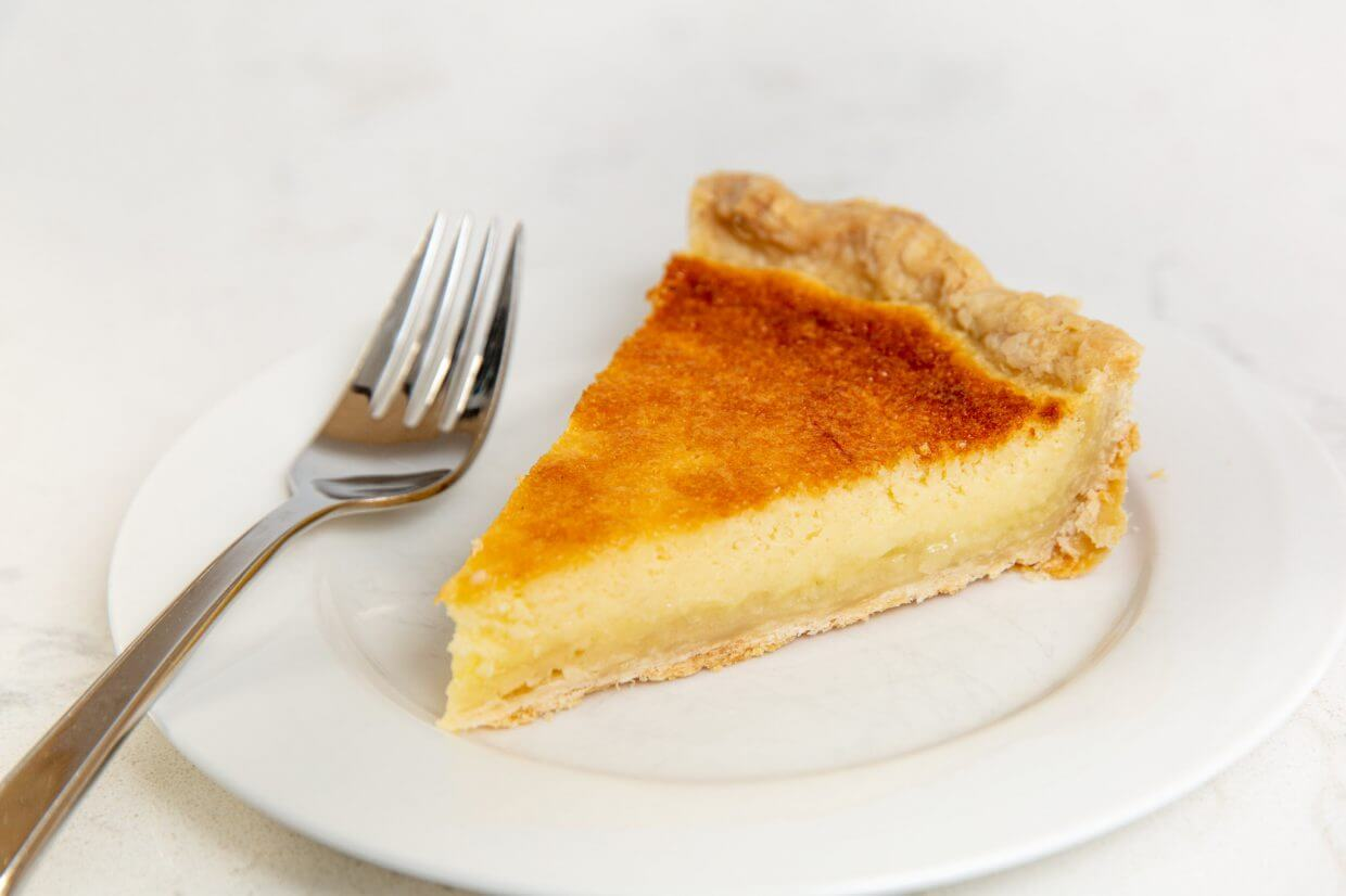 Slice of buttermilk pie