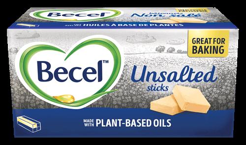 Becel Plant-Based bricks and sticks are great vegan butter alternatives for baking